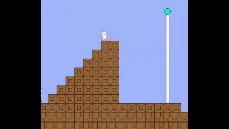 Syobon ActionCat Mario - Perfect RunNo Deaths