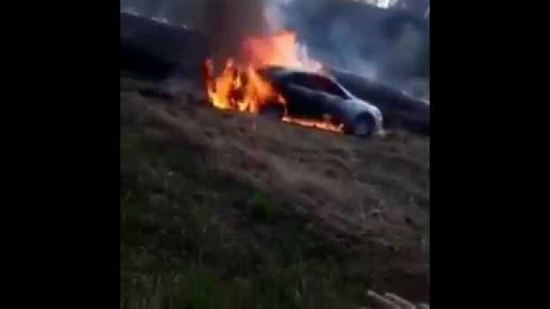 Копатели жгли траву, а сожгли машину
