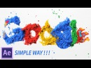 After Effects Tutorial Particles Logo Text Animation