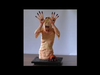 (ТОРТ-РЕЦЕПТ-VK) Торт Бледный человек (Лабиринт Фавна), декорирование торта.