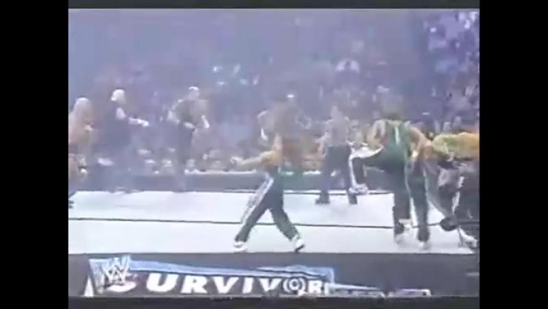 Флер, Слотер, Симмонс, Дасти Роудс пр. Кенни, Джонни, Никки и Майки (Survivor Series 2006)
