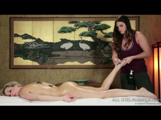 Alison tyler, brandi love - meditation massage