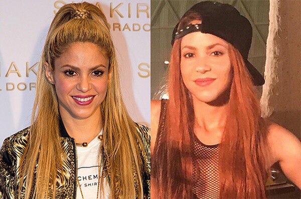 Шакира сменила имидж и выкрасила волосы в ярко-рыжий цвет