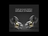 QKZ DM8 Earphones Mini Dual Driver Extra Bass Turbo Wide Sound