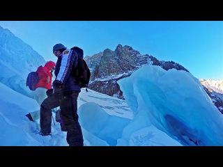 Новый год на леднике Актру. Горный Алтай.