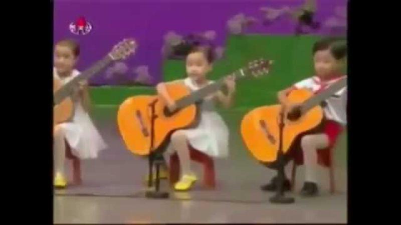 Корейские дети исполняют наш Кубинский танец