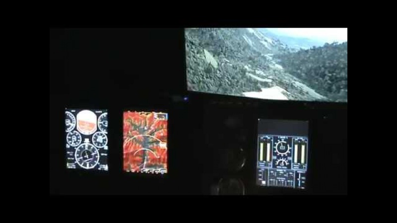 Cтенд приборних панелей кабіни вертольота Ми-8МСБ