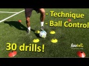 Ball Mastery l Coerver Coaching Fast Footwork Part 1 30 *GREAT* Football drills for Ball Control