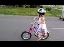Полицейская на велосипеде