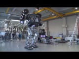 South Korea World's first giant manned robot takes its first steps
