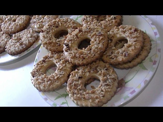 Песочное кольцо с орешками два вида