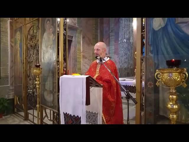 Слово протоієрея Костянтина Пантелея в українській парафії в Римі