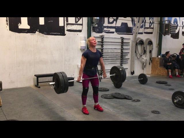 Hang clean: 104 x 1 rep by Julie Abildgaard » Freewka.com - Смотреть онлайн в хорощем качестве