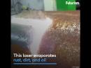 Лазер, который чистит ржавчину
