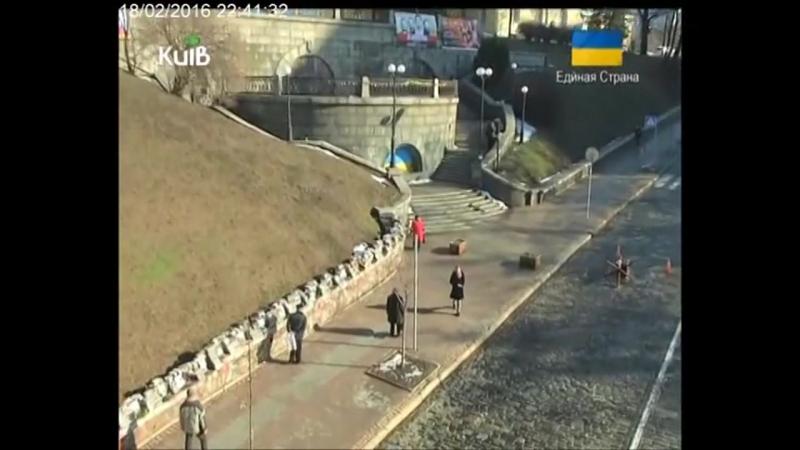 Прогулянки містом 2016.02.18 Місця революції Гідності