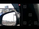 На Синопской набережной в Петербурге в массовую аварию попали пять автомобилей