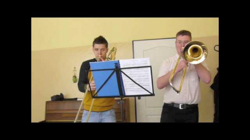 Trombone duet Marco Bordogni vocalise nr7