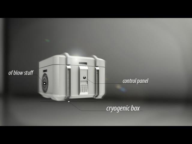 3D моделирование ящика, бокса, сундука.В Blender (sci-fi)