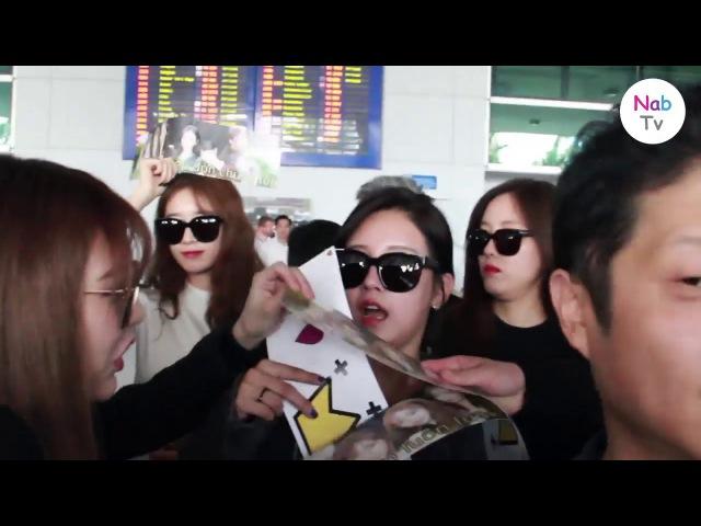 [Nab TV] Cận cảnh T-ara và Dia tại sân bay Tân Sơn Nhất