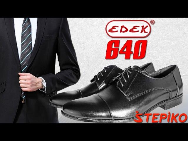 Мужские кожаные туфли Edek 640. Видео обзор от WWW.STEPIKO.COM