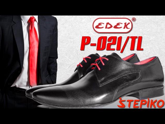 Мужские кожаные туфли Edek P-021/TL. Видео обзор от WWW.STEPIKO.COM