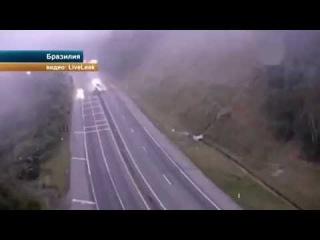 Настоящий Огненный Ад на Дороге в Бразилии