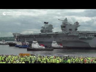 Крупнейший корабль ВМС Британии впервые отправился в плавание