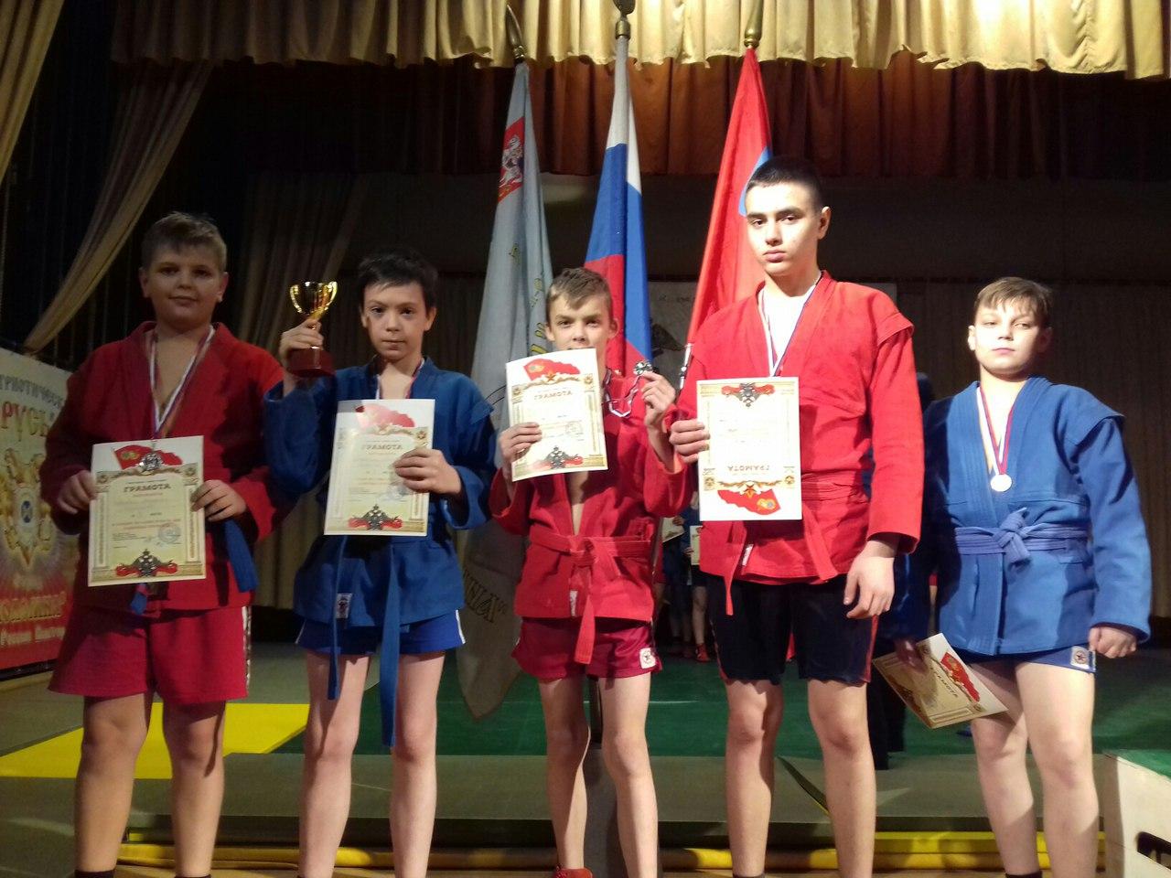 6 медалей на открытом турнире по спортивному самбо среди юношей на призы Московского областного общественного движения выпускников КВАКУ, фото Коломна Спорт