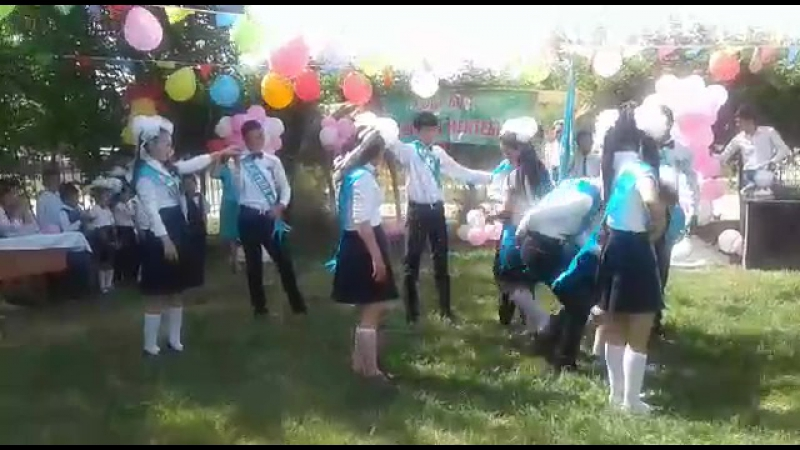2017 Түлектер вальсі😢😚М.Мәметова атындағы негізгі мектеп.Соңғы қоштасу вальсі