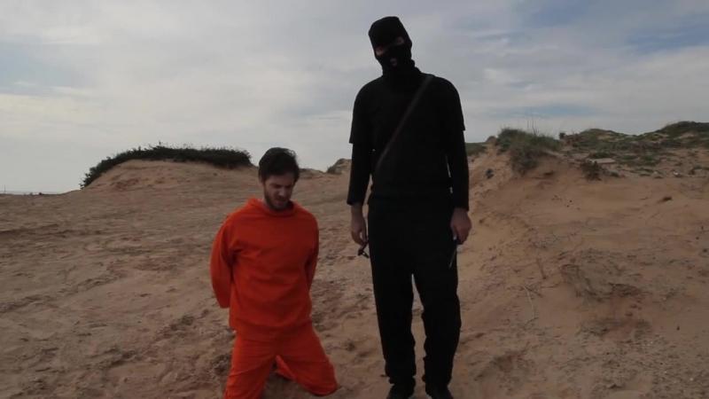 Игил казнь заложника. Слабонервным не смотреть! (нет)