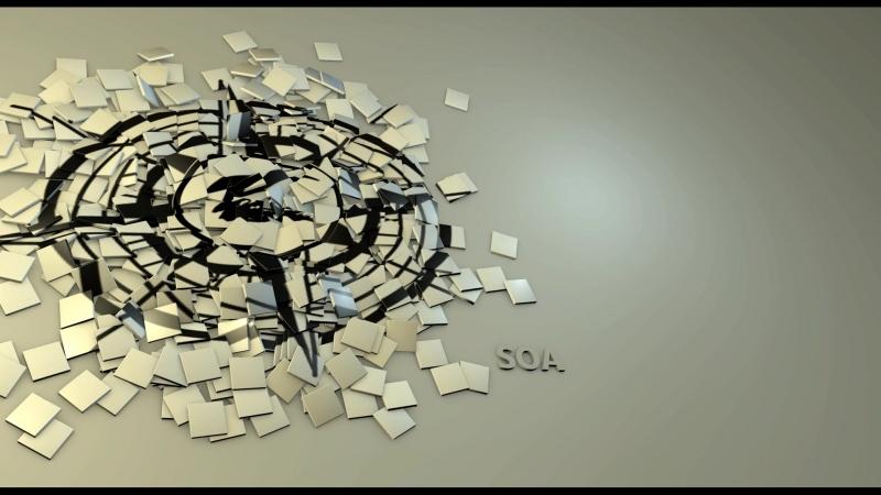 Из хаоса в порядок, заделал 3д сцену, с вроде как хаотичными фишками, которые приобретают четкую последовательность.