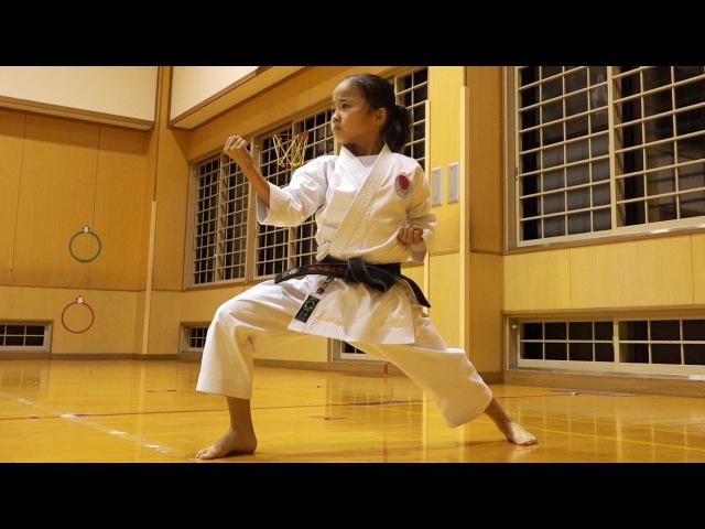 天才空手少女、高野万優の稽古を見に行った Mahiro's Karate training