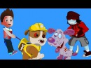 Zombie pups and bone spinner Fight Rayder Rumble from Paw Patrol vs Teen zombie dogs Nursery rhymes