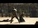Game Of Thrones S05E09 Jorah Mormont fights in Meereen Arena Daznak's pit