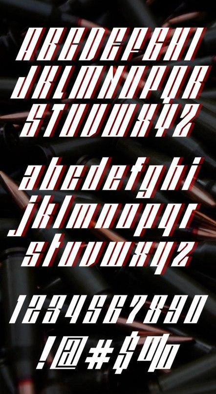 шрифт redpower