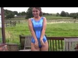 Jess Blue Wetlook Swimsuit
