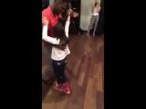 Kizomba - Fabricio and Elina (7 years old) dancing