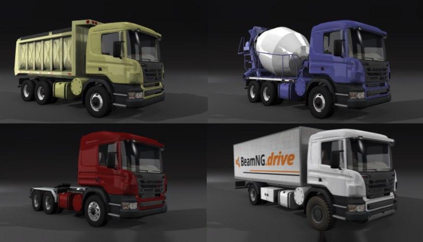 Грузовик Semi Euro Truck v0.6