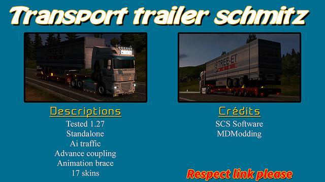 TRANSPORT TRAILER SCHMITZ 1.27