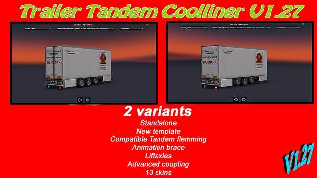 TRAILER TANDEM COOLLINER 3 AXLES 1.27