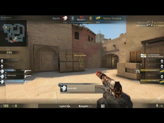 Na`Vi pistol round vs North, de_mirage @ ESL Pro League