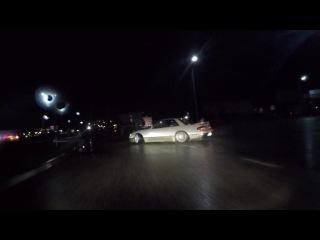 Roma Roma Two-Tone S13 — Nissan Silvia S13 Street Drifting in the Rain