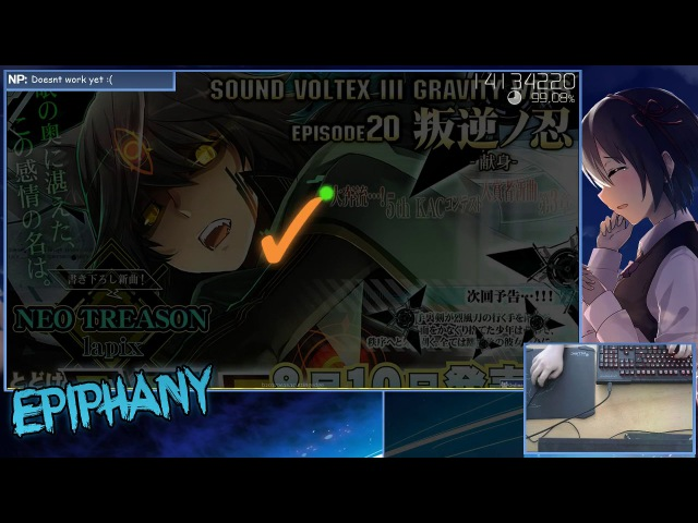 Epiphany | lapix - NEO TREASON [GRAVITY] HD,HR | FC 99.31 | Livestream!