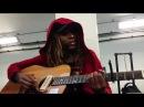Ashley Stevenson, AKA Slim Freedom, playing When doves cry.