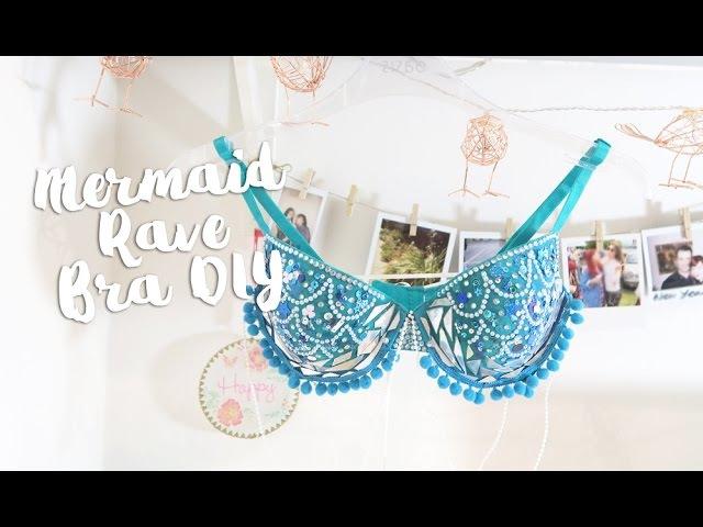 DIY Mermaid Rave Bra Paige Joanna