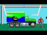 Colors for Children to Learn with Spiderman Street dump Truck ★ Songs for Kids