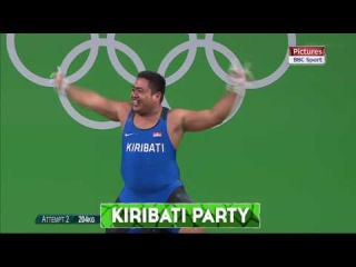 David Katoatau entertaining the crowds in Rio with his funky dance moves