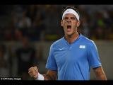 Andy Murray vs Juan Martin Del Potro HOT SHOT Davis Cup 2016