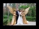 Ангелы на церемонии росписи в Гродно. Чудесные живые скульптуры от EIVA show