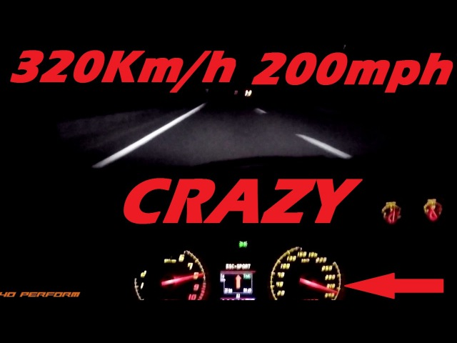 NIGHT POV 0-320 Km/h 0-200 mph on Autobahn - Lamborghini LP570-4 Performante | 40 Perform